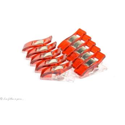 Lot de 10 pinces plastiques type Prodige - 33x12mm - 4