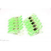 Lot de 10 pinces plastiques type Prodige - 33x12mm - 6