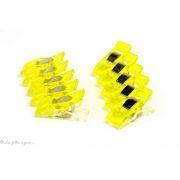 Lot de 10 pinces plastiques type Prodige - 33x12mm - 8
