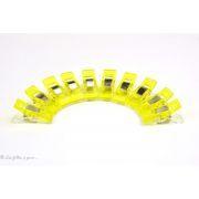 Lot de 10 pinces plastiques type Prodige - 33x12mm - 7