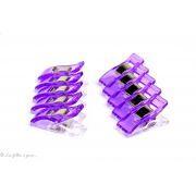 Lot de 10 pinces plastiques type Prodige - 33x12mm - 10