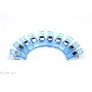 Lot de 10 pinces plastiques type Prodige - 33x12mm - 11