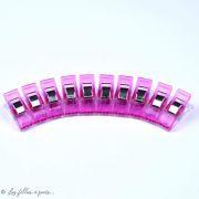Lot de 10 pinces plastiques type Prodige - 33x12mm - 16