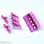 Lot de 10 pinces plastiques type Prodige - 33x12mm - 17