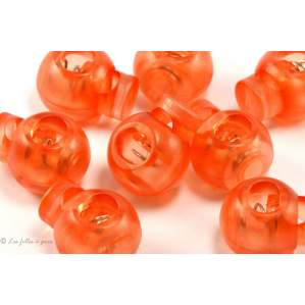 Arrêts cordons boule plastique transparent - Lot de 2 - 1