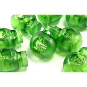Arrêts cordons boule plastique transparent - Lot de 2