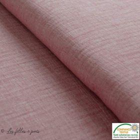 Tissu double gaze de coton couleur réglisse - Noir chiné