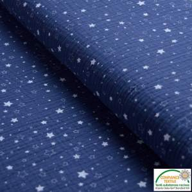 Tissu double gaze de coton motif étoile