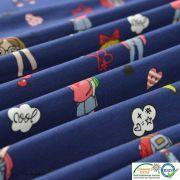 Coupon tissu jersey coton motif fillettes et cerise - 80cm Autres marques - 20