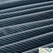 Tissu jersey coton motif rayure - Gris et écru