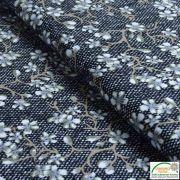 Tissu jersey viscose motif fleur