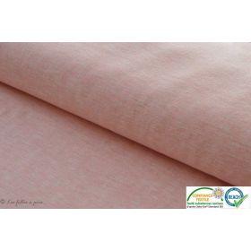 Tissu jersey sweat coton - Gris chiné clair - Bio - Stenzo Textiles ®