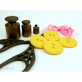 Boutons résine - 23mm -Lot de 8 - 1