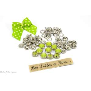 Boutons-pression à sertir perle - 10mm - Lot de 10 - 1