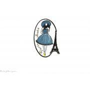 Écusson vintage petite robe  - Thermocollant