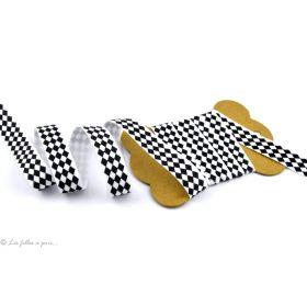 Biais élastique pré-plié motif losange - 16mm
