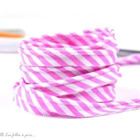 Passepoil coton motif rayure - Esprit berlingo - 12mm - 1