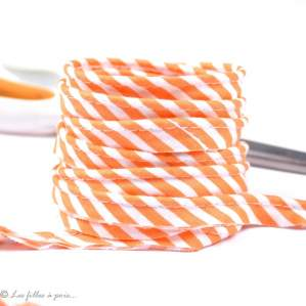 Passepoil coton motif rayure - Esprit berlingo - 12mm