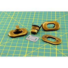 Fermoir twist quart de tour à sertir - 20x37mm  - 1