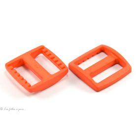 Boucle coulissante de réglage en plastique pour sangle - 25mm - Lot de 2 - 1
