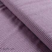 Tissu jersey coton motif rayure lurex - 1