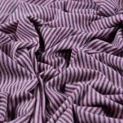 Tissu jersey coton motif rayure lurex - 6
