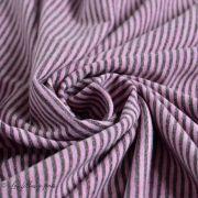 Tissu jersey coton motif rayure lurex - 3