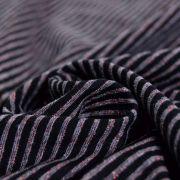 Tissu jersey coton motif rayure lurex - 10