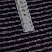Tissu jersey coton motif rayure lurex - 14