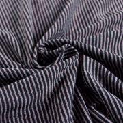 Tissu jersey coton motif rayure lurex - 9