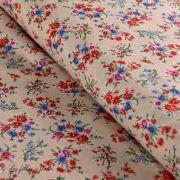 Tissu viscose fleurs esprit bohème
