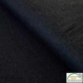 Tissu jacquard - Noir et gris - Oeko-Tex ®