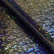 Tissu lycra hologramme paillette
