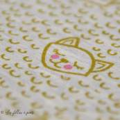 Tissu french terry coton motif chat- Oeko-Tex ®