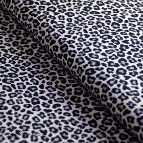 Tissu jersey motif léopard - Noir et blanc - Oeko-Tex ® - Stenzo Textiles ®