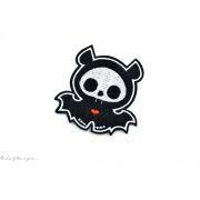 Écusson chauve souris petit vampire - Noir et blanc - Thermocollant