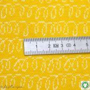 Tissu jersey coton jacquard WAVES LUIAARD - Bio - Lillestoff ®
