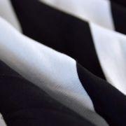 Tissu jersey di milano coton motif rayure - Noir et blanc Autres marques - 5