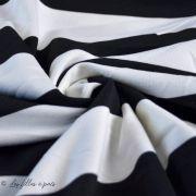 Tissu jersey di milano coton motif rayure - Noir et blanc Autres marques - 7