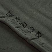 Tissu french terry coton CLIMBING IVY GREEN  - Kaki -  Oeko-Tex ® - See You At Six ®