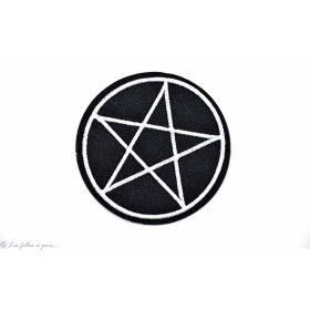Écusson pentagramme - Noir - Thermocollant
