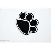 Ecusson pate de chien - Noir - Thermocollant