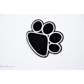 Ecusson pate de chien - Noir - Thermocollant - 1