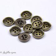 Bouton métal - Rond - 15mm