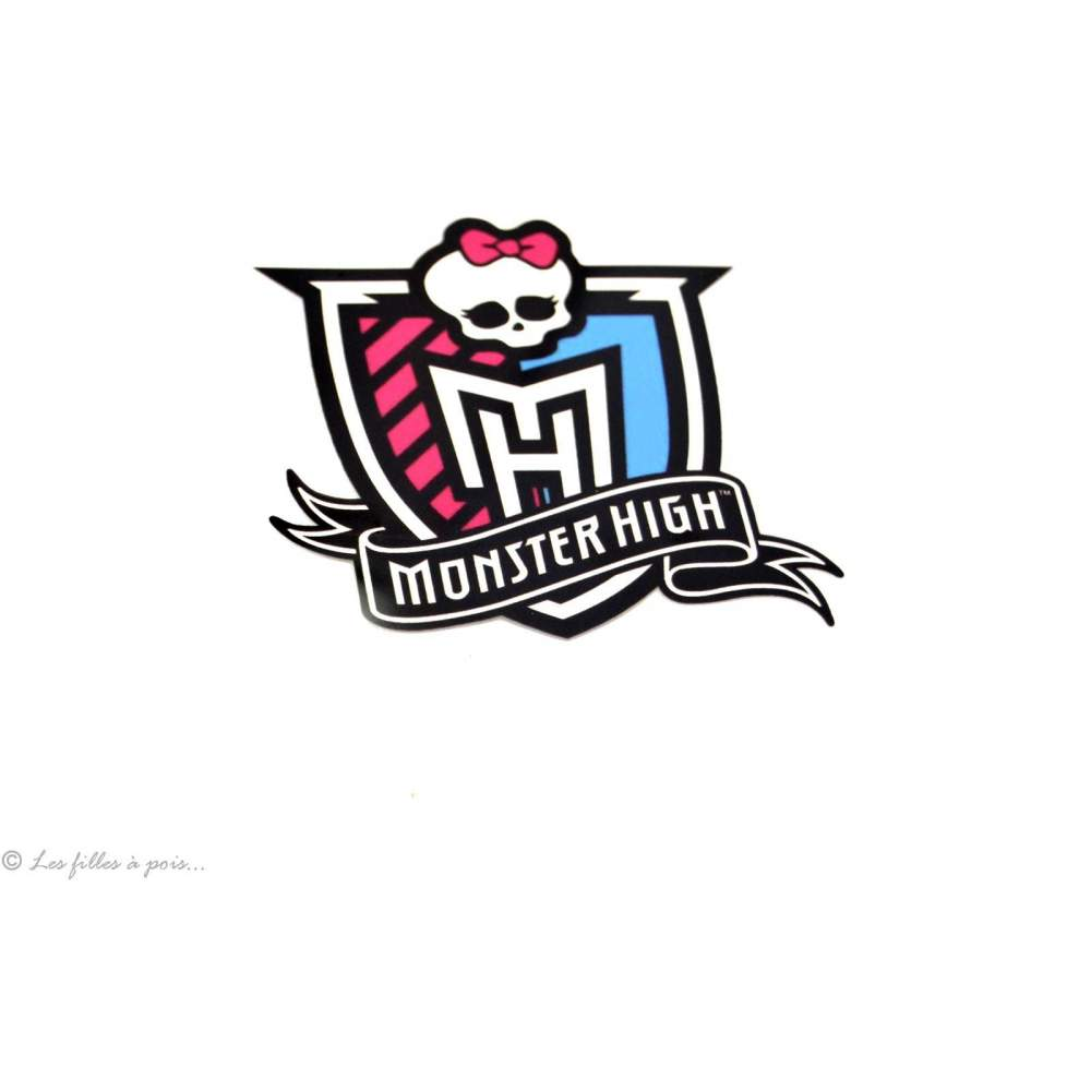 Motif transfert blason monster high - Multicolore - Thermocollant