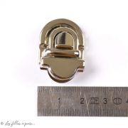 Fermoir cartable à sertir - Argenté - 20x28mm