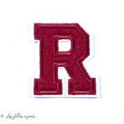 Ecusson lettres de l'alphabet - Rouge - Thermocollant