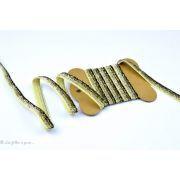 Ruban glitter paillettes - Doré et noir - 10mm