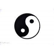 Écusson yin yang - Noir et blanc - Thermocollant - 1