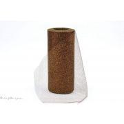 Rouleau de tulle souple - Paillettes - 15cm x 22m - 11